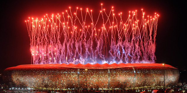 Ceremonia de clausura de la final del Mundial en el estadio Soccer Cty de Johannesburgo.   AFP Photo