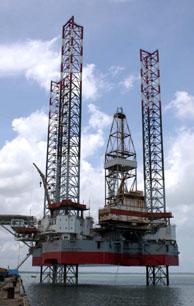 Una de las plataformas petrolíferas de la china CNOOC. (Foto: AP).
