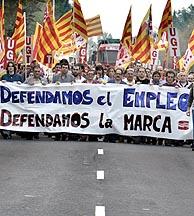 Los trabajadores se manifestaron el pasado 27 de octubre. (Foto: EFE)