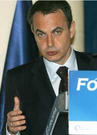 Rodríguez Zapatero en el Fórum Europa. (Foto: EFE)