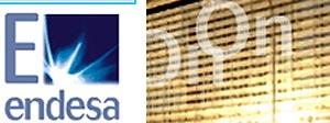 La 'E' del logo y la palabra 'On' forman el nombre de la compañía alemana en este anuncio en Internet.