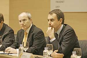 José Montilla y José Luis Rodríguez Zapatero. (Foto: Javi Martínez)