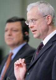 El comisario europeo de Empleo, Asuntos Sociales e Igualdad de Oportunidades, Vladimir Spidla. (Foto: EFE)