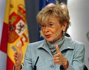 María Teresa Fernández de la Vega, tras el Consejo de Ministros. (Foto: EFE)