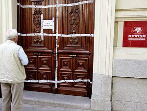 La sede de Afinsa en Madrid, precintada. (Foto: EFE)