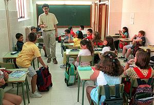 Niños en un aula. (Foto: Javi Martínez)