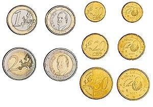 Imagen de las nuevas monedas de euro. (Foto: Fábrica Nacional de Moneda y Timbre)