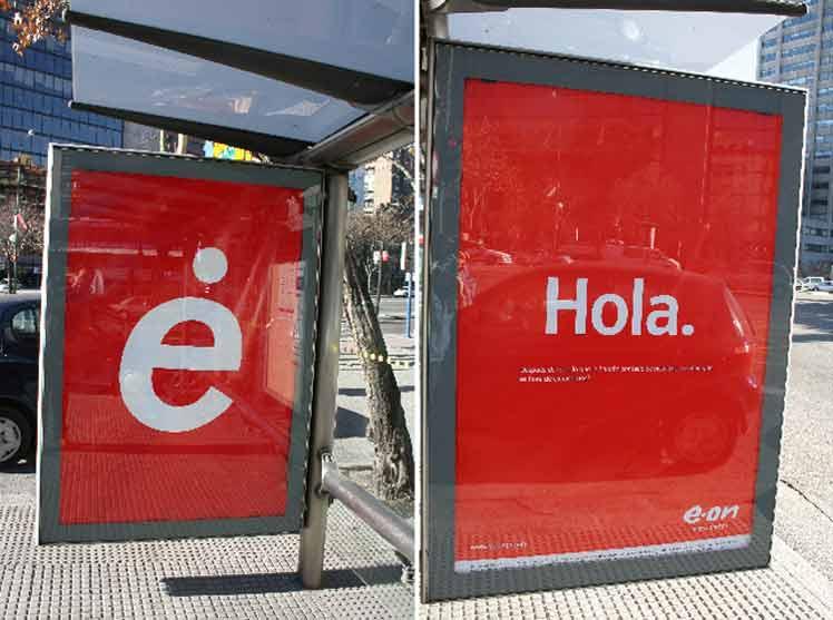 Una cara para la Comunidad de Madrid... y la otra para el mensaje de E.ON. (EL MUNDO)