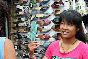 Tienda de calzado en Shangai (Foto: J. P. Cardenal)