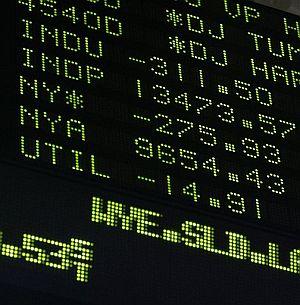 Un panel de la bolsa de Nueva York. (Foto: AP)