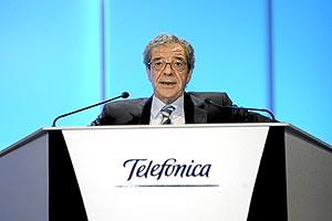 El presidente de Telefónica, César Alierta. (Foto: Begoña Rivas)
