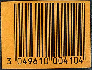 Código de barras de un producto. (Foto: Matías Costa)