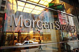 Cartel a la entrada del edificio de Morgan Stanley en su edificio de Nueva York (FOTO: AP)