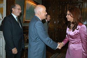 La presidenta argentina, en el encuentro que mantuvo con Brufau el pasado mes. (Foto: EFE)