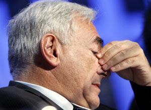 Dominique Strauss-Kahn, durante la pasada reunión del Foro de Davos. (Foto: REUTERS)