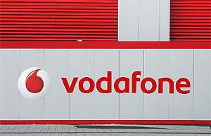 Logotipo de Vodafone en Londres. (Foto: AFP)