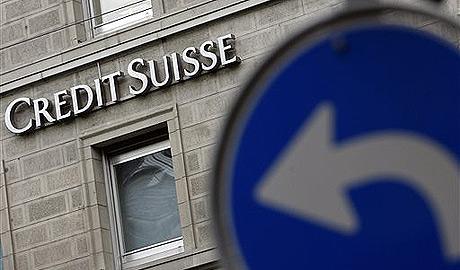 El logo de Credit Suisse, en un edificio de Zurich. (Foto: AP)