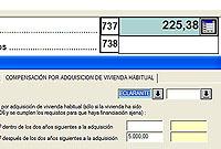 Al pinchar en la pestaña de 'Compensación...' aparece la casilla 737. (Foto: elmundo.es)