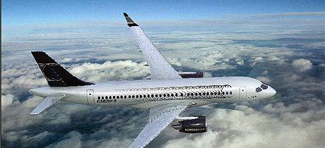 Imagen del avión facilitada por Bombardier. (Foto: EFE)