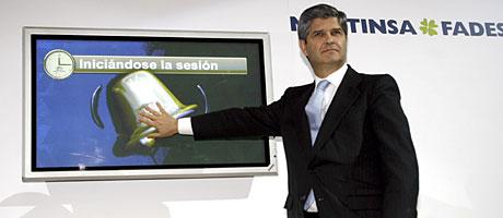 El presidente de Martinsa-Fadesa, Fernando Martín, en diciembre de 2007. (Foto: EFE)