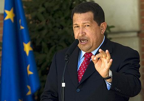 Hugo Chávez, durante su estancia en Madrid, el 25 de julio. (Foto: REUTERS)