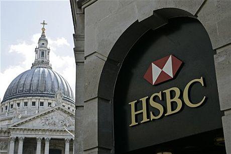 Sede del banco HSBC frente a la catedral de San Pablo, en Londres. (Foto: AP)