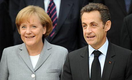 El presidente francés Nicolas Sarkozy y la canciller alemana Angela Merkel. (Foto: AFP)