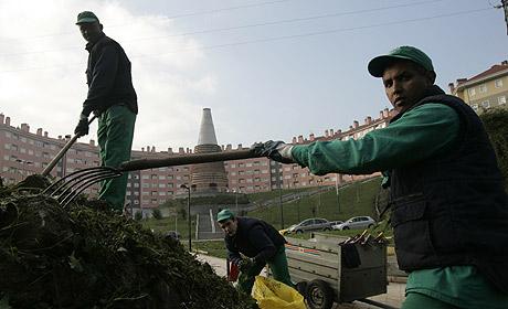 Trabajadores inmigrantes en el País Vasco. (Foto: Miguel Calvo)