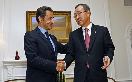 Ban Ki-moon y Sarkozy, el pasado mes de septiembre. (Foto: REUTERS)
