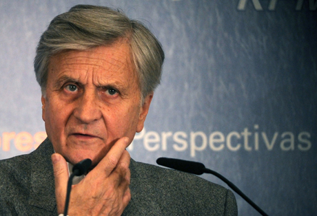 Trichet durante un forum económico en Madrid. (Foto: Philippe Desmazes)