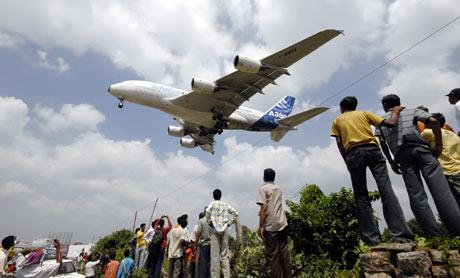 Vista de un Superjumbo A380. (Foto: EFE)