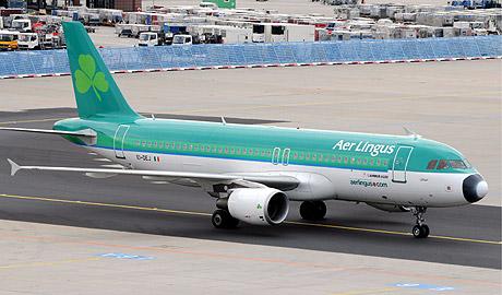 Un avión de Aer Lingus en Fráncfort: (Foto: EFE)