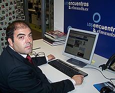 El presidente de ATA, Lorenzo Amor, durante su encuentro digital en elmundo.es. (Foto: elmundo.es)