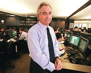 Madoff, en su oficina de Manhattan. (Foto: AP)