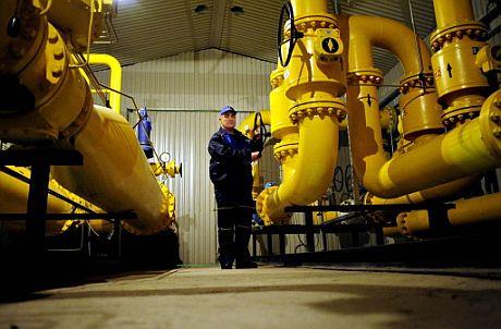 Una estación de distribución de gas en Rumanía. (Foto: AFP)
