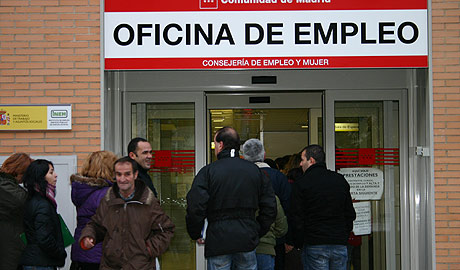 Oficina del Inem en Madrid. (Foto: J. P.)