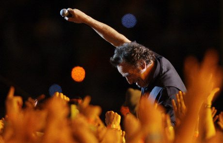 Bruce Springsteen, en la Super Bowl. | AP