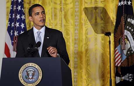 Obama, durante una rueda de prensa. | Efe