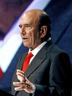 Emilio Botín, presidente de Banco Santander. | Foto: Bruno Moreno.