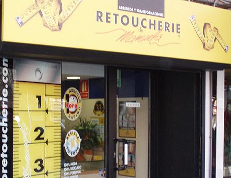 Una tienda de arreglos de ropa en Madrid. | T.G.
