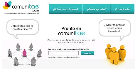 Imagen de la web Comunitae.