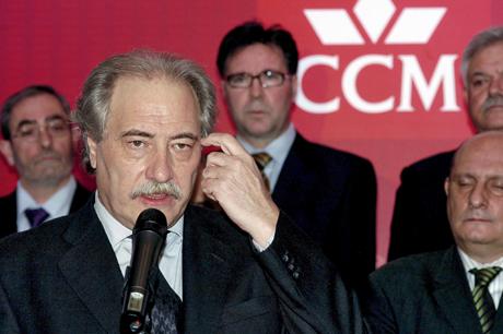 El presidente de la CCM, Juan Pedro Hernández Moltó, en una declaración en Toledo.   Efe