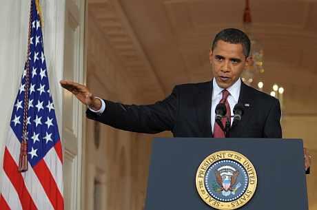 Obama, durante su comparencencia. | Ap