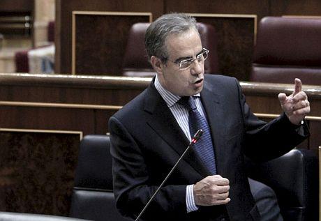 Celestino Corbacho, durante su intervención ante el Congreso. | Efe