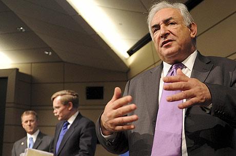 El director gerente del FMI, Dominique Strauss Kahn, en Washington.   Efe