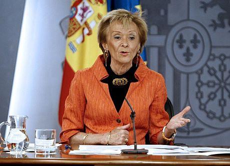 La vicepresidenta primera del Gobierno, María Teresa Fernández de la Vega.   Efe