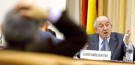 El Gobernador del Banco de España, Miguel Ángel Fernández Ordóñez, en una compareciencia en el Congreso. | Alberto Di Lolli