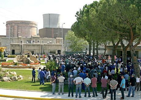 Manifestación en la central nuclear de Ascó. | Efe