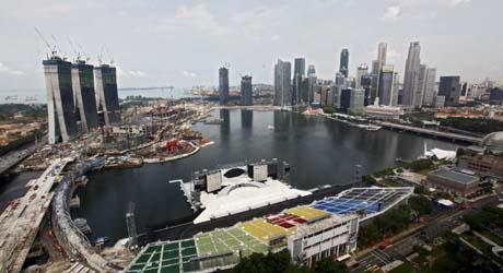 Vista general de un conjunto hotelero en Singapur. | Efe