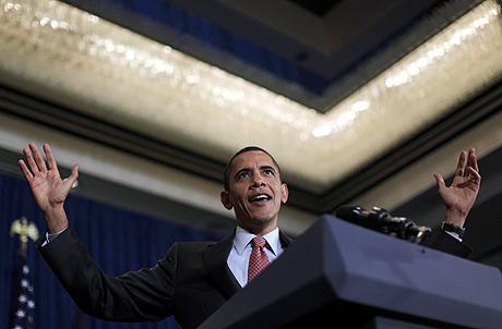 Obama, en su discurso en el acto de campaña de Virginia. | Reuters